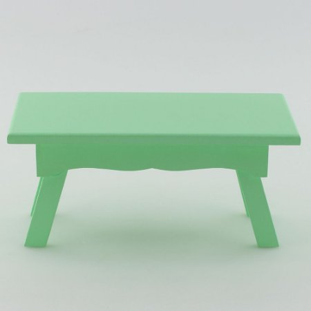 Banquinho Retangular em MDF - Verde claro