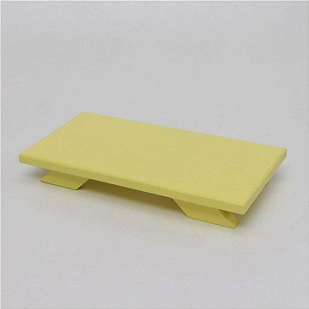 Bandeja Baixa em MDF - Amarelo Candy