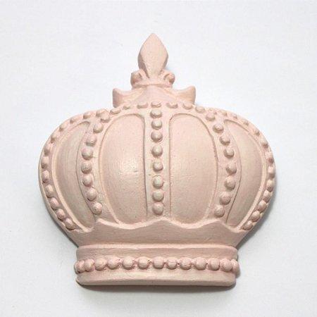 Coroa Decorativa de Parede - Rosa