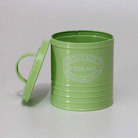 Lata Vintage Verde - Pequena