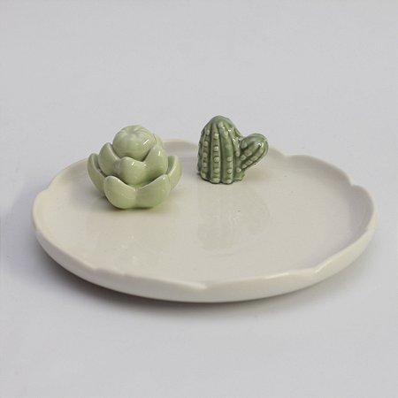 Mini prato com cactos (17cm)