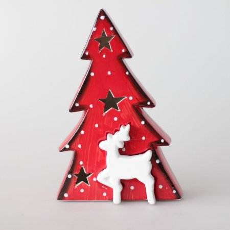 Árvore de Natal de louça com LED