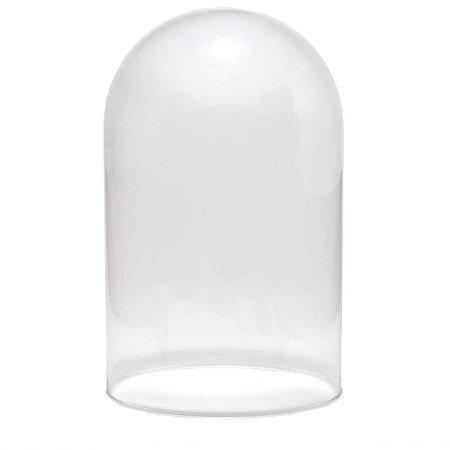 Redoma de vidro lisa - média