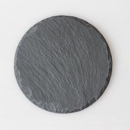 Prato redondo em Ardósia - Acabamento Rústico (15cm)