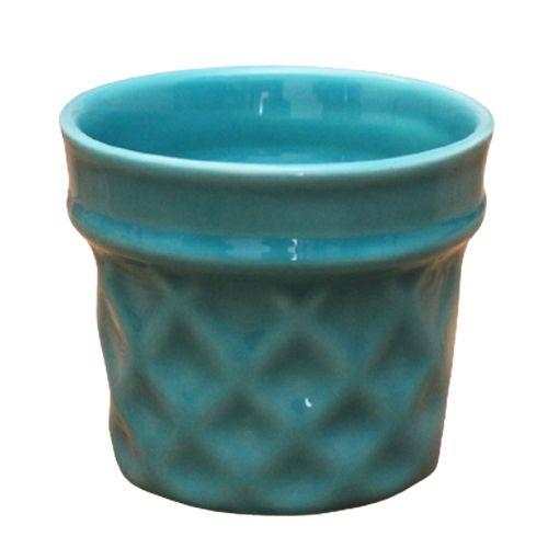 Vaso Casquinha Azul Turquesa