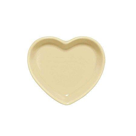 Travessa coração Amarela P (12x11cm)