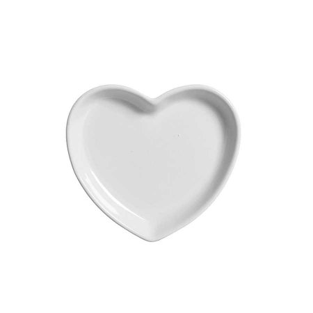 Travessa coração Branca P (12x11cm)