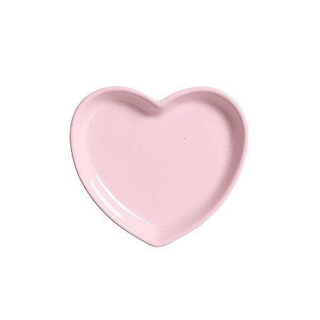 Travessa coração Rosa P (12x11cm)