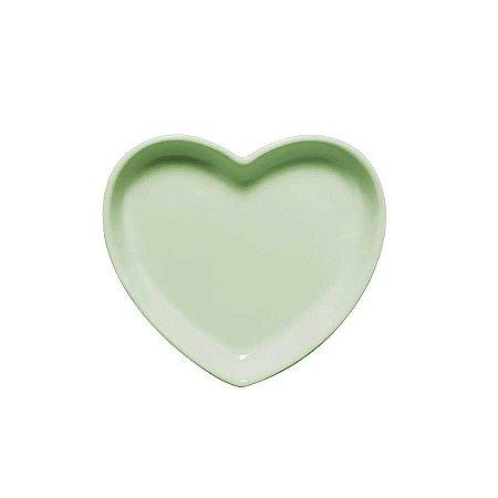 Travessa coração Verde P (12x11cm)