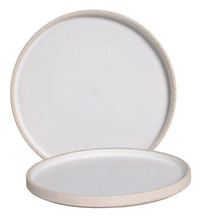 Prato Redondo Branco 27cm