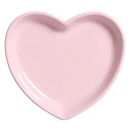 Travessa coração Rosa G (27,5x25cm)