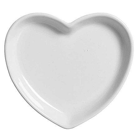 Travessa coração Branca G (27,5x25cm)