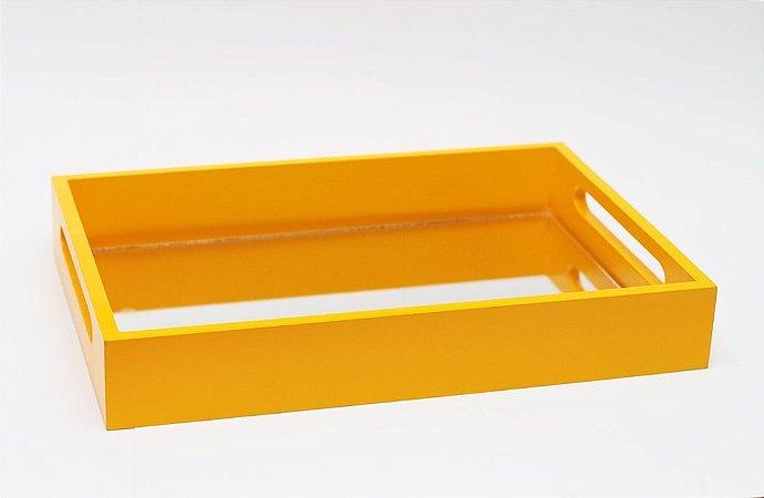 Bandeja de MDF com Espelho Amarela