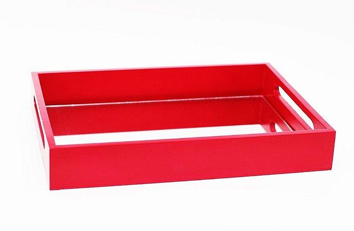 Bandeja de MDF com Espelho Vermelha