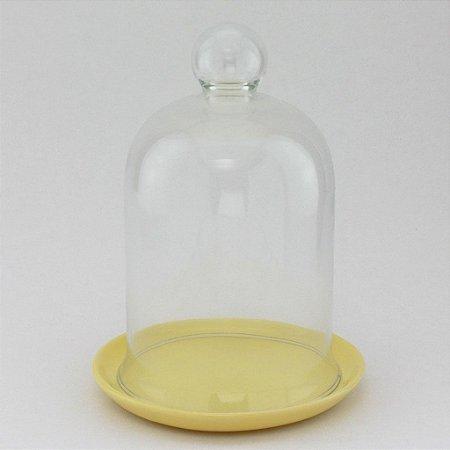 Redoma com base de louça - amarela