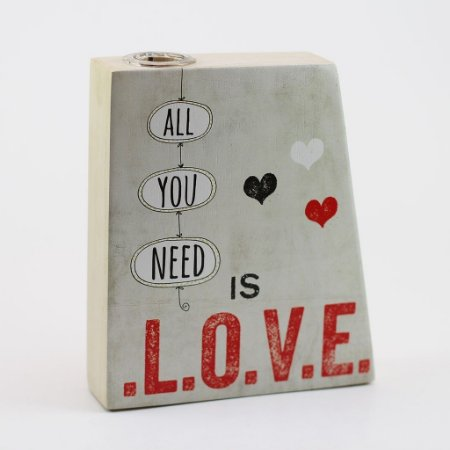 "Vaso Mesa/Parede ""All you need is love"""