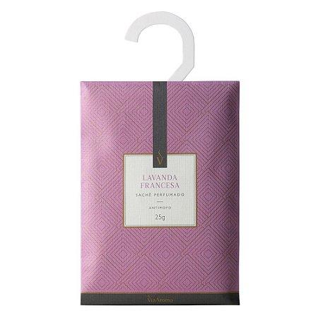 Sachê Perfumado Lavanda Francesa 25g Via Aroma