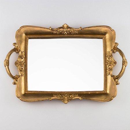 Bandeja Clássica Decorada II - Dourado