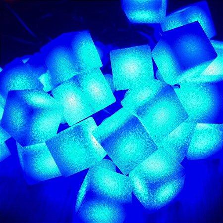 Cordão de Luz Led Cubo (110V) - Azul