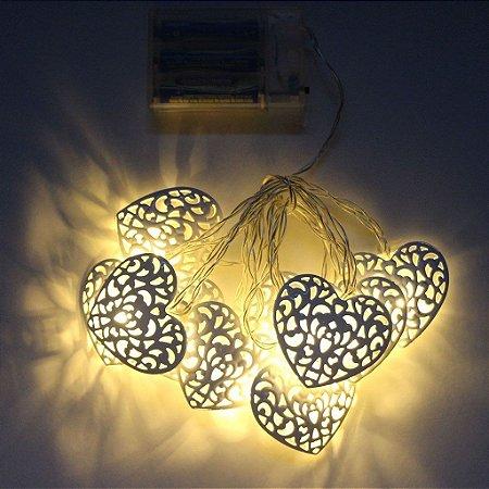 Cordão de Luz Led à Pilha Coração
