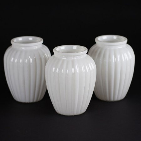 Vaso Romântico I Branco (3 unidades)
