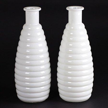 Vaso Romântico Longo Branco (2 unidades)
