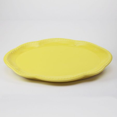 Bandeja de louça amarela (26x34cm)