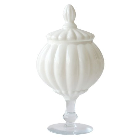 Bomboniere de Vidro - Branco (15x30cm)