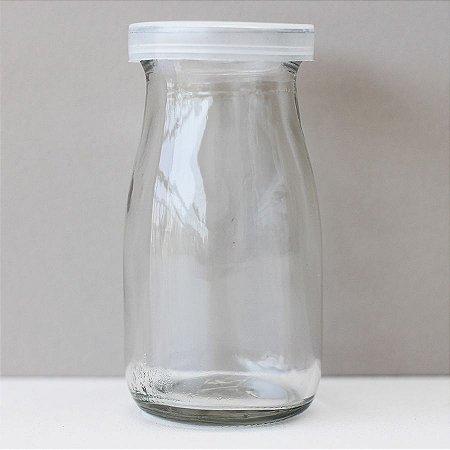Pote de vidro alto