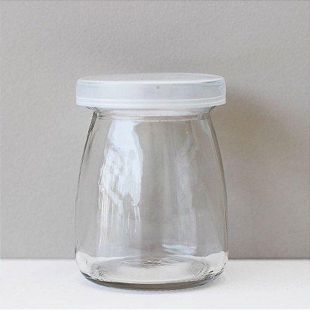 Pote de vidro baixo