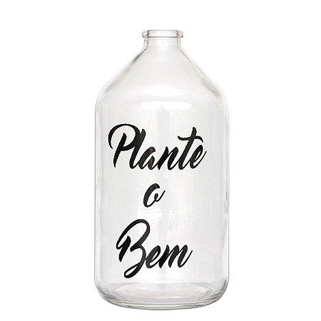 Vaso garrafa de vidro - Plante o bem