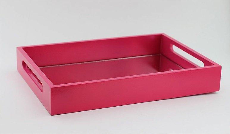 Bandeja de MDF com Espelho Pink