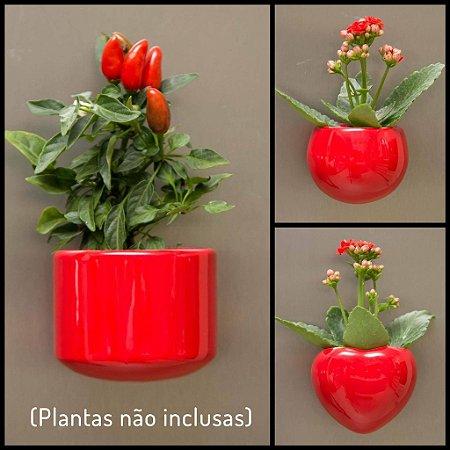 Kit Vasos Ímã - Vermelho