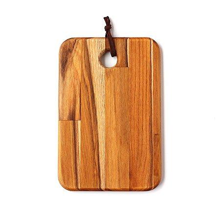 Tábua de madeira Teca Retangular 20x30cm