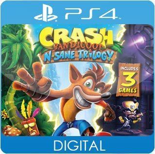 Crash Bandicoot N. Sane Trilogy PS4 Mídia Digital