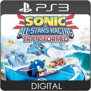 Sonic All-Stars Racing Transformed PS3 Mídia Digital