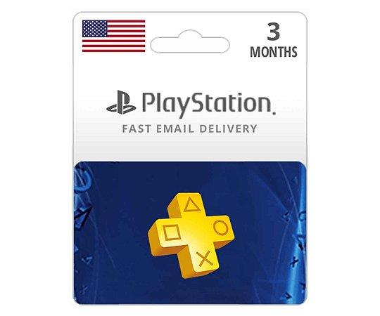 Cartão PSN Plus Americana Assinatura 3 Meses