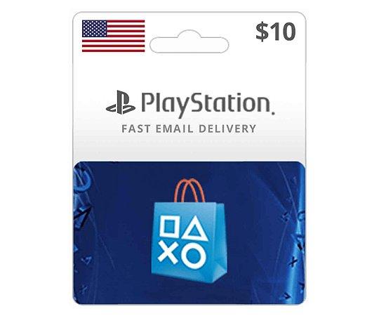 Cartão PSN $10 Dólares PSN Americana