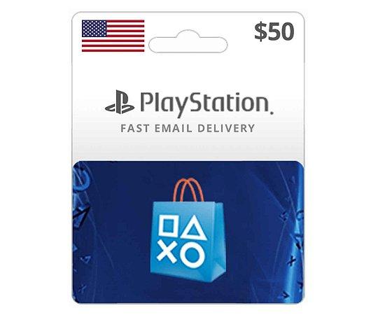 Cartão PSN $50 Dólares PSN Americana