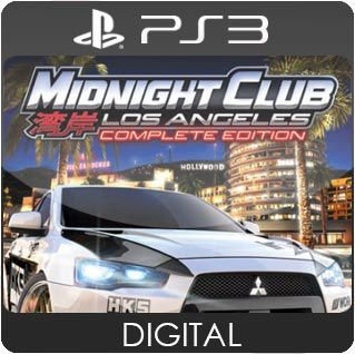 Midnight Club Los Angeles Complete Edition PS3 Mídia Digital
