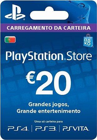 Cartão PSN €20 Euros PSN Portugal