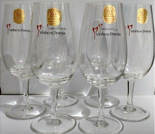 Taças de Degustação Vinho & Poesia (kit com 6 taças) - Disponível somente para Grande SP