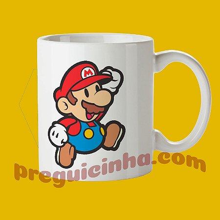 Caneca de porcelana personalizada Mario Bros