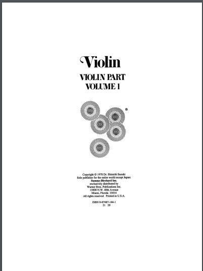 Método para violino Suzuki vol 1 **ARQUIVO EM PDF ENVIO POR EMAIL**