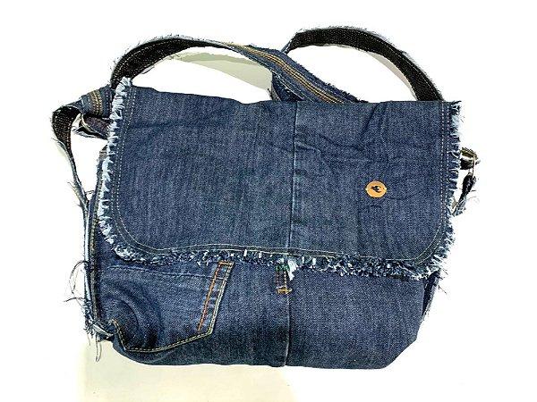 Bolsa carteiro em jeans