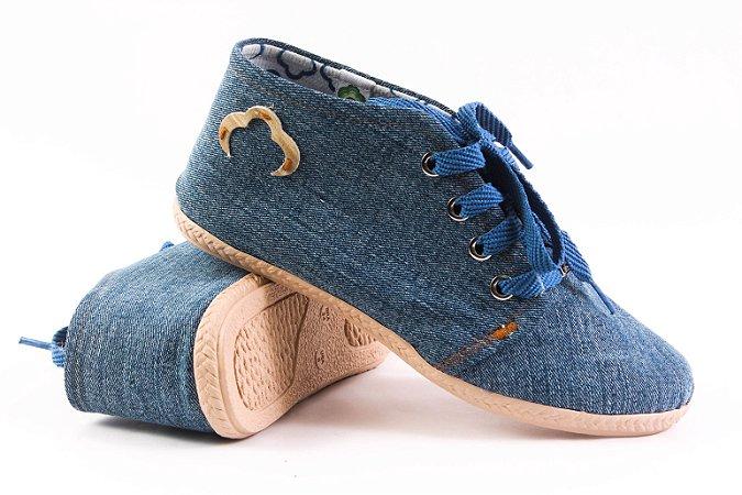Sapatinho Fechado Jeans Reciclado Tamanho 34
