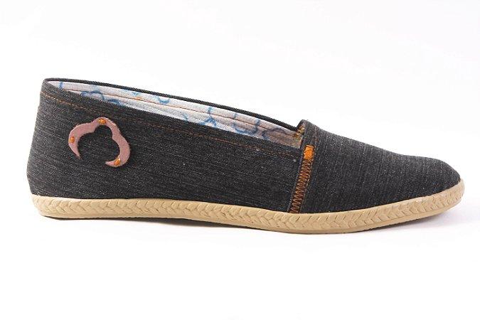 Alpargata Tecido Jeans Reciclado Tamanho 37