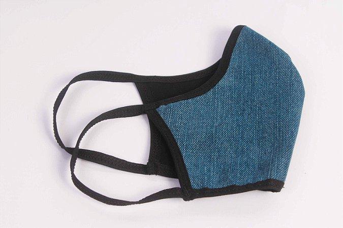 Máscara de proteção em Jeans com forro algodão