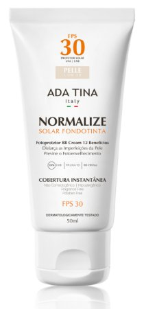 Normalize Ft Fondotinta Fps 30 | Protetor Solar e Base 50ml - AdaTina