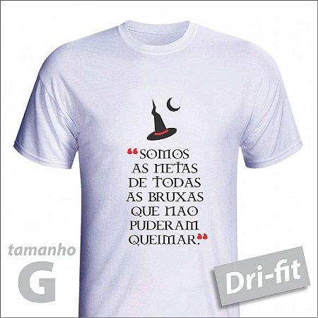 Camiseta - BRUXA - Dri-fit - tamanho G